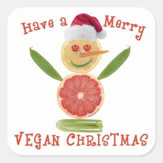 Merry Vegan Christmas Square Sticker