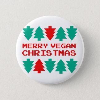 Merry Vegan Christmas Xmas Badge Button Pin