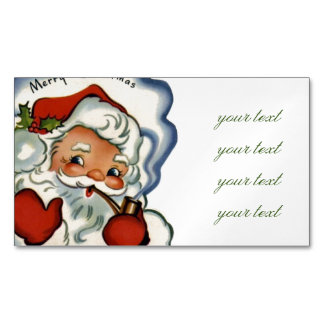 merry vintage christmas,retro,rustic,genuine,repro magnetic business card
