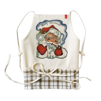merry vintage christmas,retro,rustic,genuine,repro zazzle HEART apron