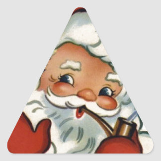 merry vintage christmas,retro,rustic,genuine triangle sticker