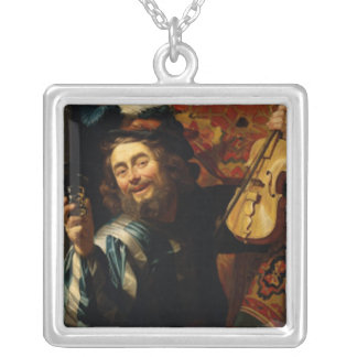 Merry Violinist with Wine Glass Pendants