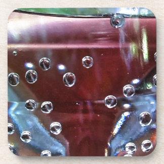 Merry water drops beverage coaster
