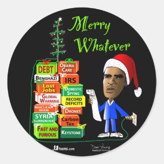 Merry Whatever Classic Round Sticker