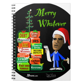 Merry Whatever Spiral Notebooks