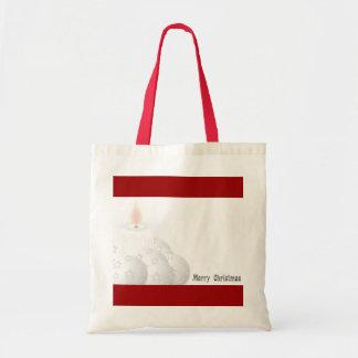 Merry White Christmas Bag