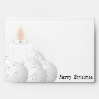 Merry White Christmas Envelope