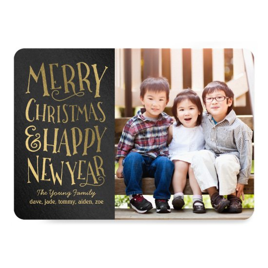 Merry Wishes Editable Color Christmas Photo Cards