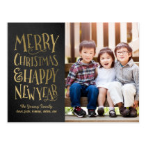 Merry Wishes Editable Color Holiday Photo Card