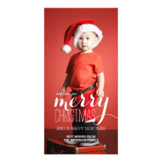 Merry Wishes Merry Christmas | Holiday Photo Card