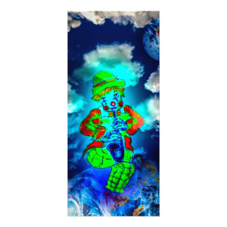 Merry world clown rack card