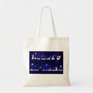 Merry X-Mas blue Bags