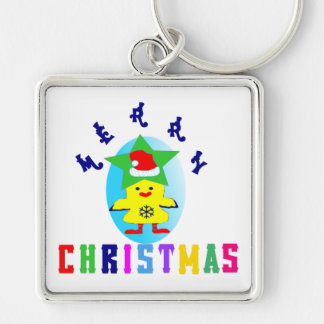 ♫♥Merry X-Mas Chicken-Santa Premium Keychain♥♪ Keychain