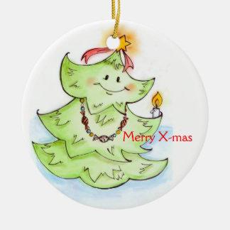 Merry X-mas Fir-Tree Christmas Ornaments