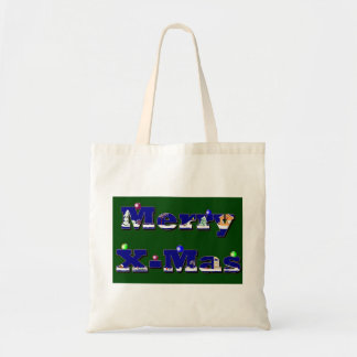 Merry X-Mas green Bags