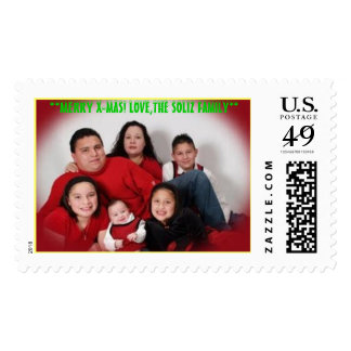 MERRY X-MAS! LOVE,THE SOLIZ FAMILY POSTAGE STAMP