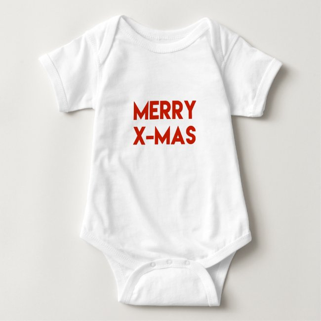 Merry X-Mas, Modern Red Typography Christmas
