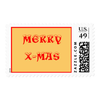 MERRY X-MAS POSTAGE STAMPS
