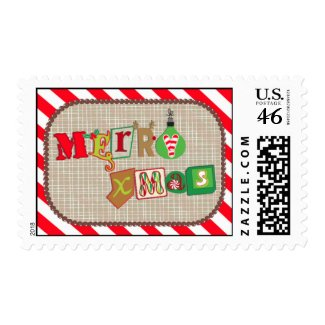 Merry X-mas Ransom Stamp