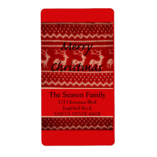 Merry X-Mas Ugly Christmas Sweater Label