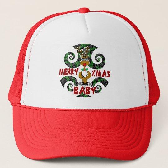 Merry Xmas Baby Trucker Hat