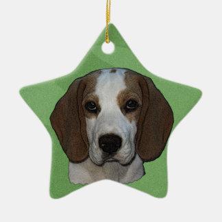 Merry Xmas Beagle Christmas Ornament