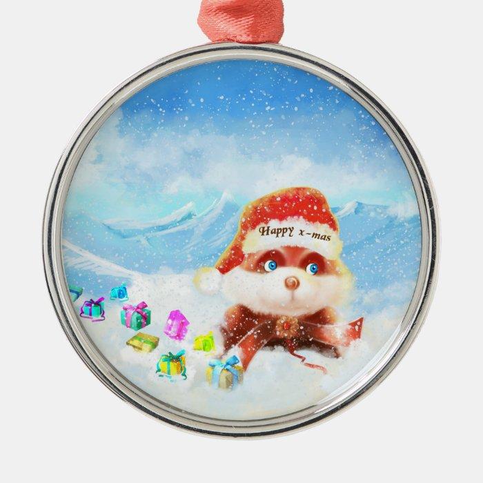 Merry xmas Bunny Ornament