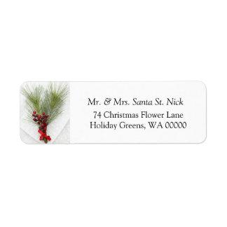 Merry Xmas Card Return Address Label Stickers
