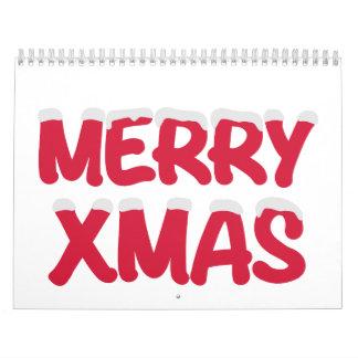 Merry Xmas christmas snow Calendar