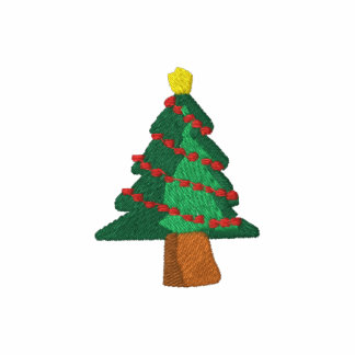 Merry Xmas! Christmas Tree Embroider Embroidered Shirt