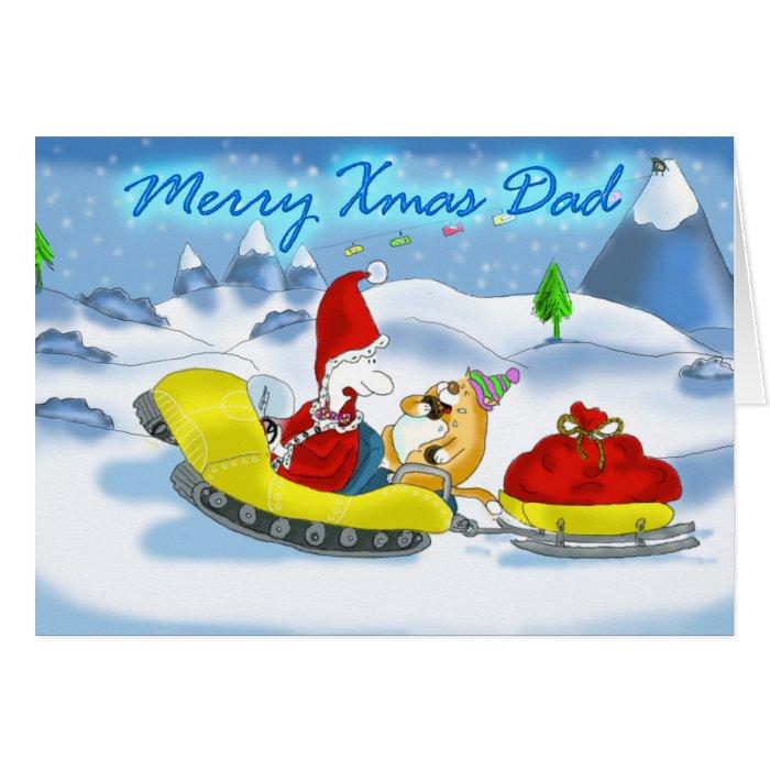 merry xmas dad santa card