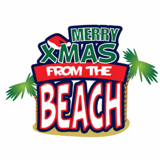 MERRY XMAS FROM THE BEACH 2x3 photo sculpture
