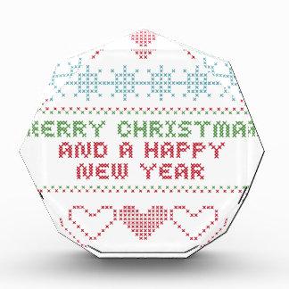 merry xmas happy new year acrylic award