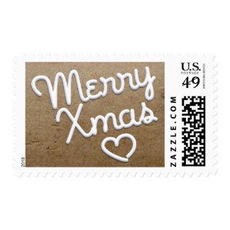 Merry Xmas Heart Stamp