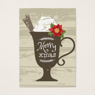 Merry Xmas Holiday Ice Cream Business Card
