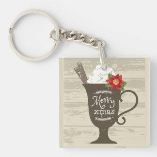Merry Xmas Holiday Ice Cream Keychain