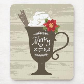 Merry Xmas Holiday Ice Cream Mouse Pad