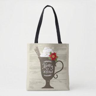 Merry Xmas Holiday Ice Cream Tote Bag