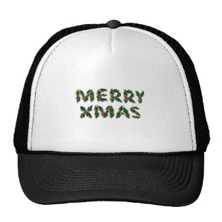 Merry Xmas Holly Mesh Hats