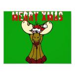 "Merry Xmas Moose 4.25"" X 5.5"" Invitation Card"