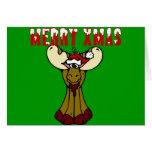 Merry Xmas Moose Greeting Card
