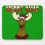 Merry Xmas Moose Mouse Pad