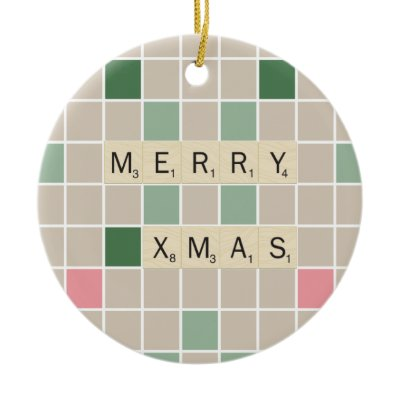 Scrabble Christmas ornament - National Scrabble Day
