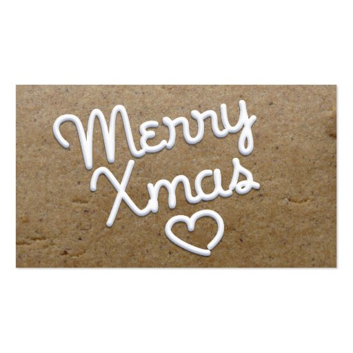 Merry Xmas Piping Gift Tag 2 Double-Sided Standard Business Cards (Pack Of 100)