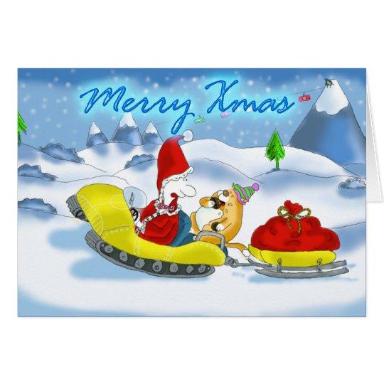 merry xmas santa card