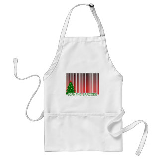 MERRY XMAS : scan this barcode Adult Apron