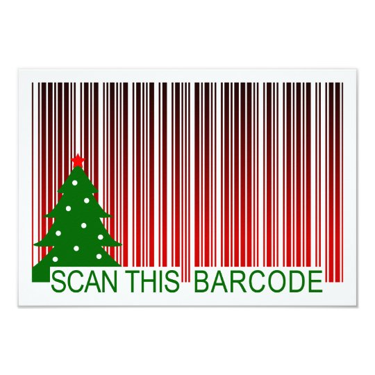 MERRY XMAS : scan this barcode Invitation