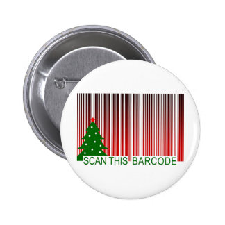 MERRY XMAS : scan this barcode Pinback Button