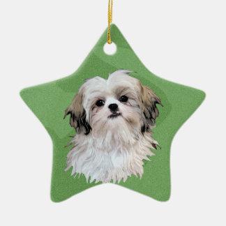 Merry Xmas Shih Tsu Ornaments