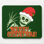 Merry Xmas Skeleton Mousepads